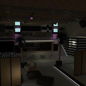 stonette 6 nightclub 3d max
