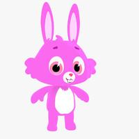 3dsmax cute cartoon bunny