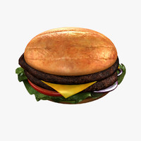 hamburger burger 3d model