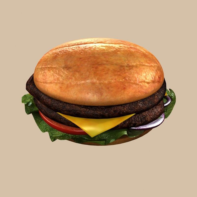 hamburger burger 3d model