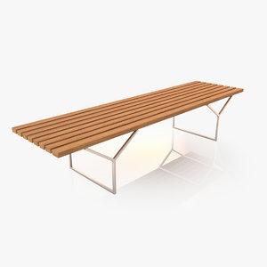 3d realistic bench model