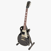 obj gibson les paul black