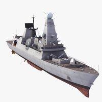 3dsmax type 45 daring class destroyer