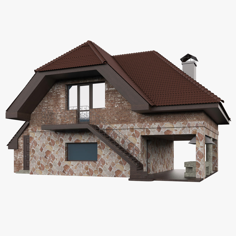 3d house mansion home model