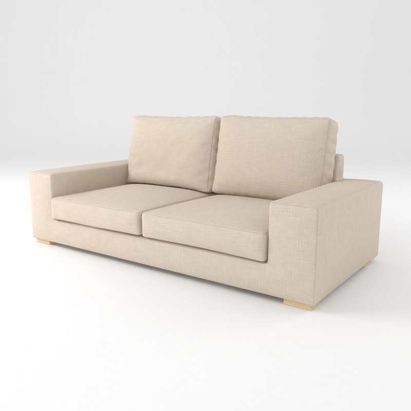 3d beige sofa interior model