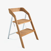 maarten usit stepladder chair 3d model