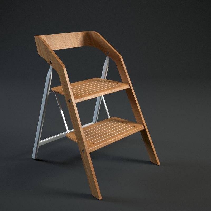 maarten usit stepladder chair 3d model