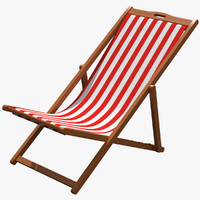 3d beach chair model