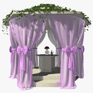 wedding gazebo 3d model
