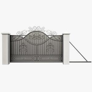3dsmax wrought driveway iron gate
