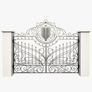 3d max wrought iron gate