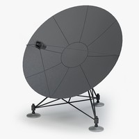 satellite antenna 3d max