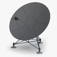 satellite antenna 3d max