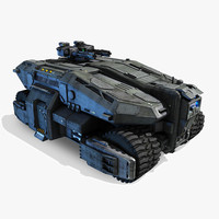 3d model of scifi apc