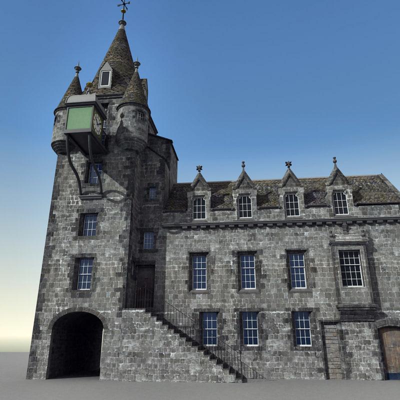 edinburgh scene 3d max