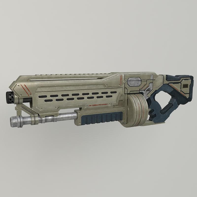 3d model sci fi shot