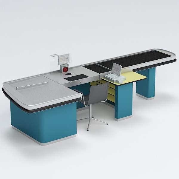 cash counter 3d max