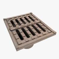 sewage cover 3d model