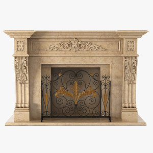 max marble fireplace