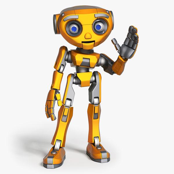 cartoon robot max