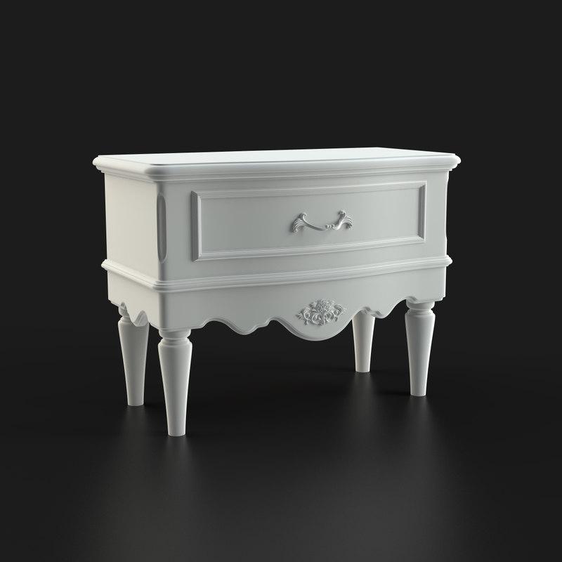 bedside table furniture b 3d model
