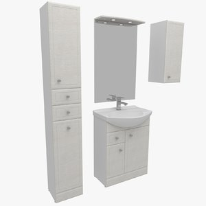 bathroom furniture 3d max