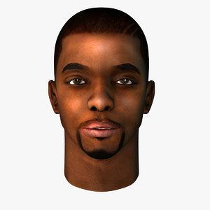 african head black male 3d model