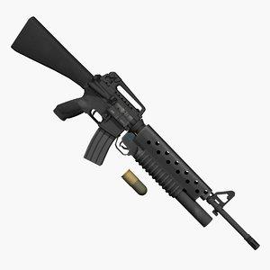 m16a2 m203 grenade 3d max