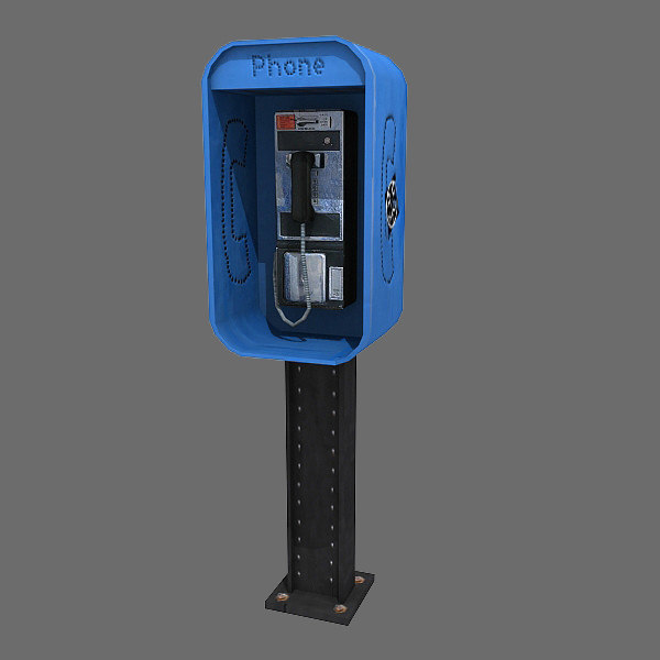 3d obj pay phone