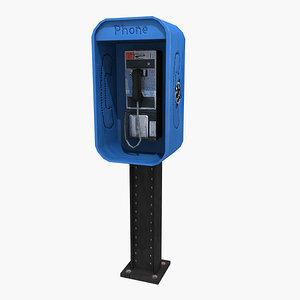 3d obj pay phone