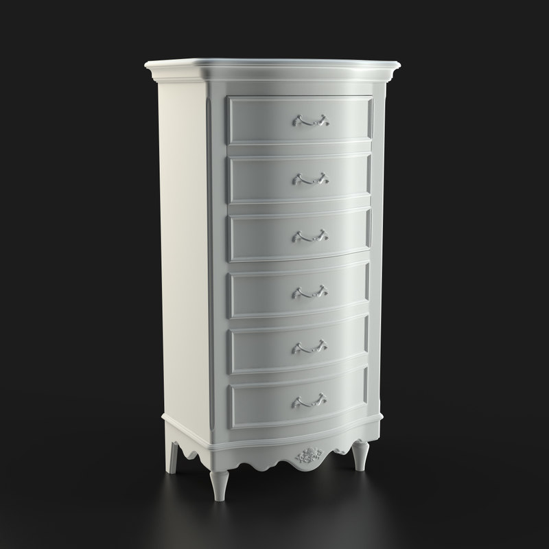 3d model chest 6 drawers