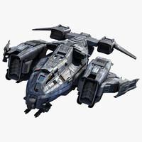 3d model sci fi dropship