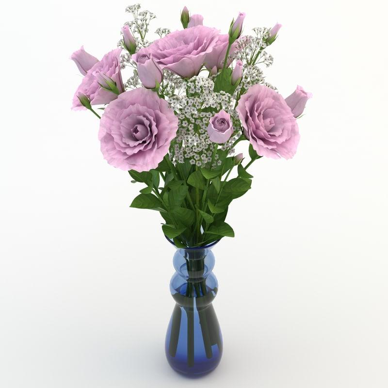 eustoma pink 3d max