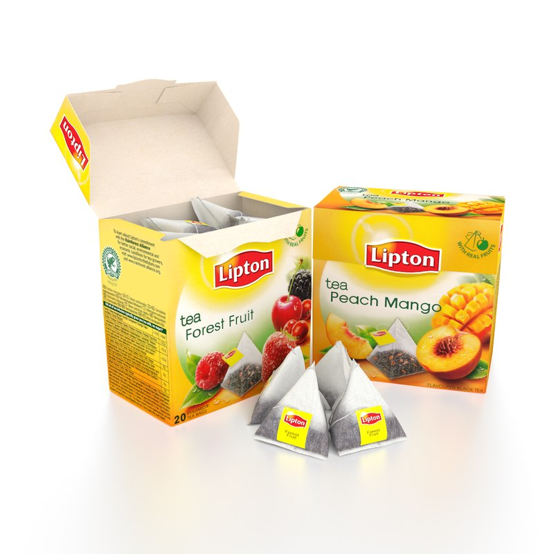 tea lipton pyramid 3d model