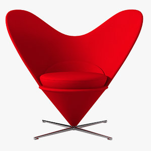 3ds max verner panton heart cone chair