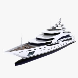 diamonds forever motor yacht 3d model