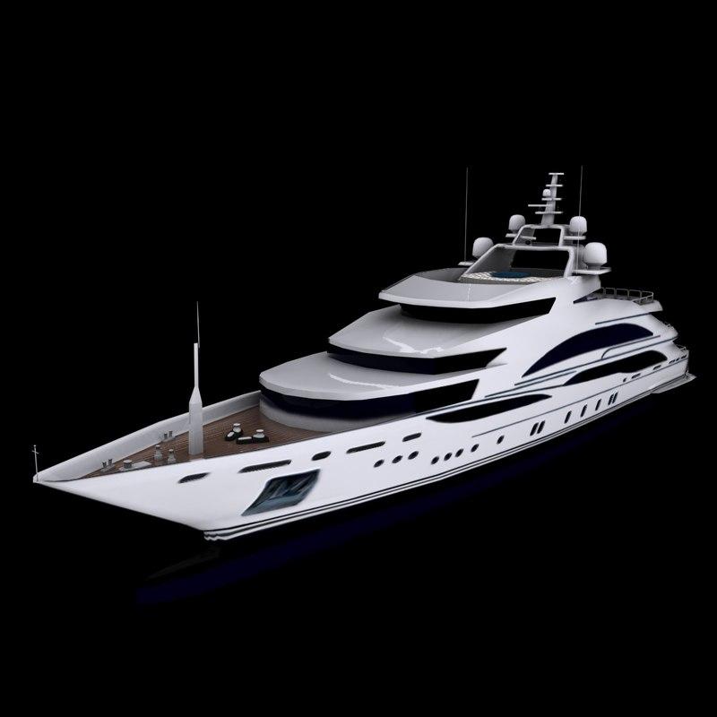 diamonds forever motor yacht 3d model