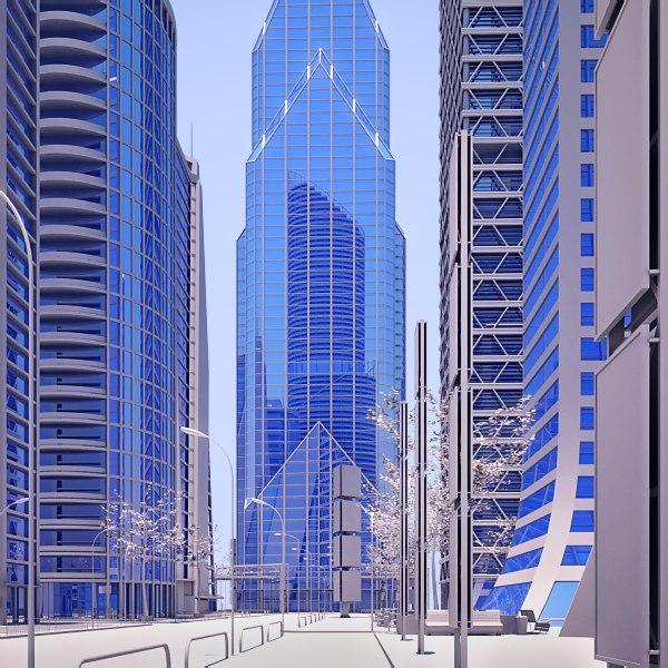 futuristic cityscape 3d max