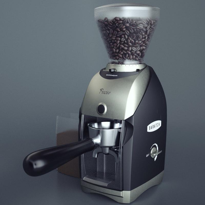 photoreal coffee grinder baratza 3ds