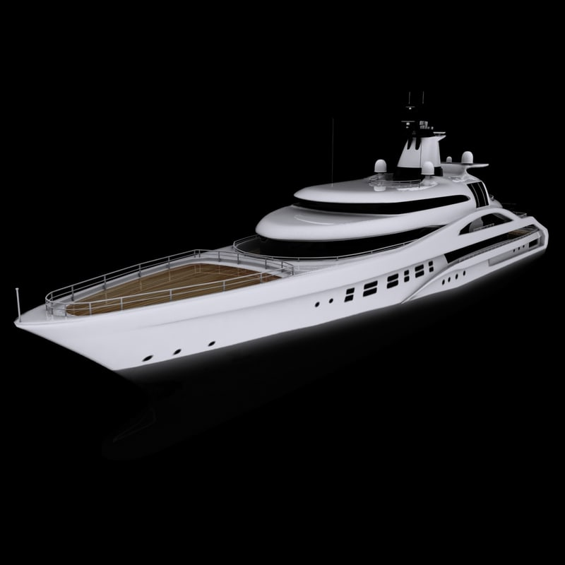3ds max blohm yacht palladium cruising