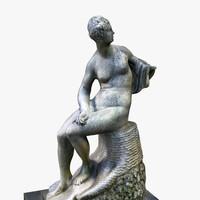 ancient roman statue 3d model