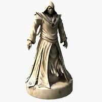 wizard statue 3d max