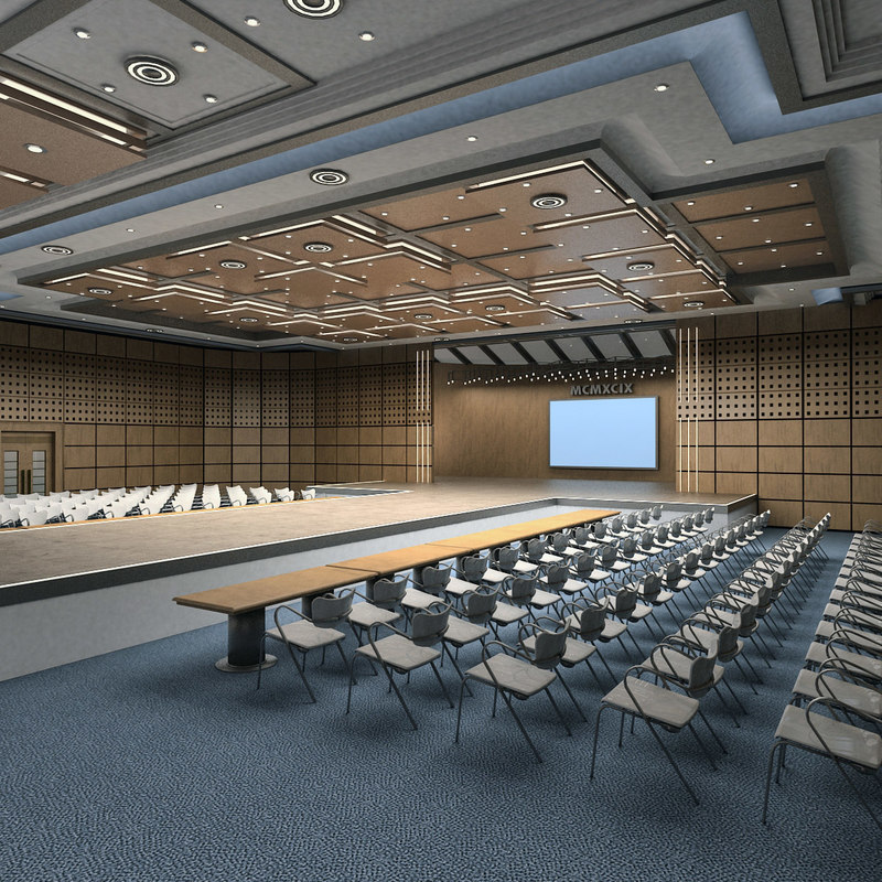 auditorium hall 3d model