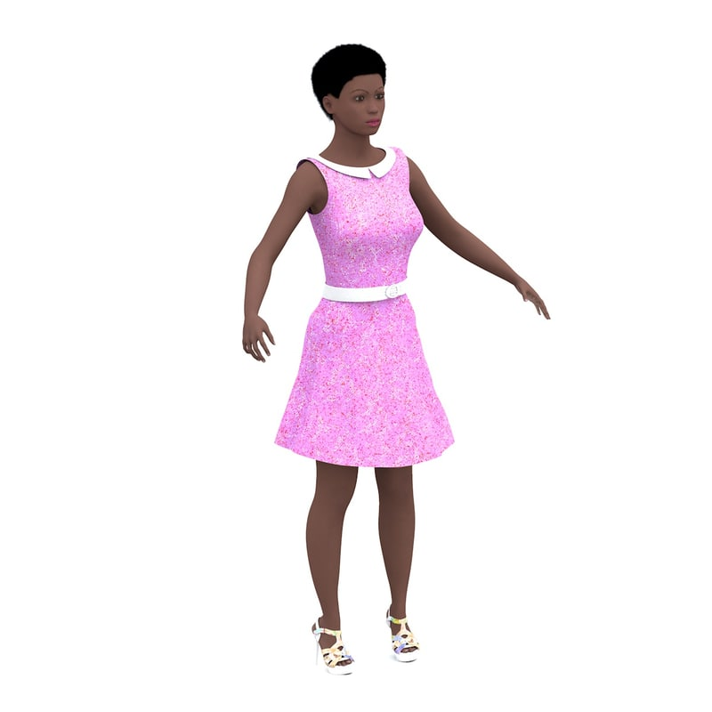 3d woman rigged janet model