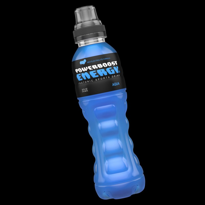 3ds max sports drink bottle