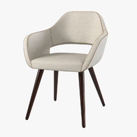 Torre Manu Wood Conical Legs Chair