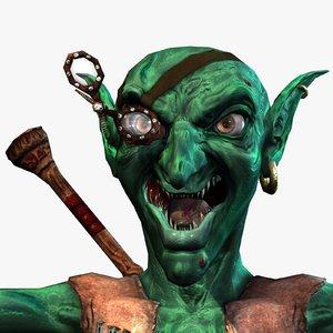 3d model fantasy gnome blowpipe