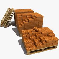 3d 2 wood pallet model