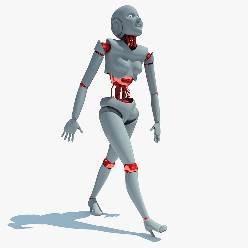 3dsmax rigged human robot biped