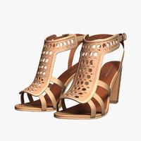 spiga fala sandals 3d 3ds
